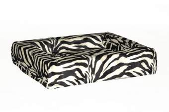 Loungebed bonfire zebra zwart/wit